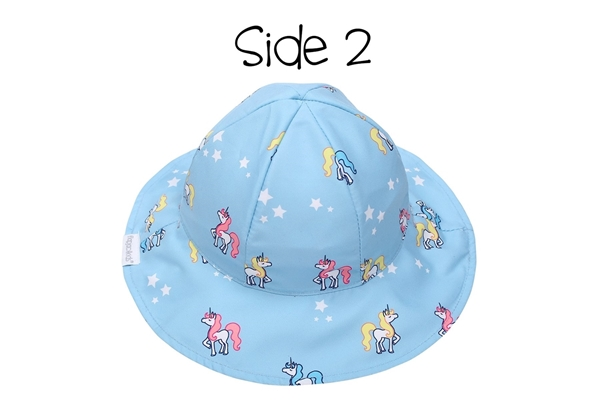 FlapJackKids Αντηλιακό Καπέλο Διπλής Όψης UPF 50+ Rainbow