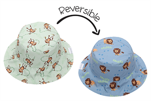 FlapJackKids Αντηλιακό Καπέλο Διπλής Όψης UPF 50+ Μαϊμού/Λιονταράκι