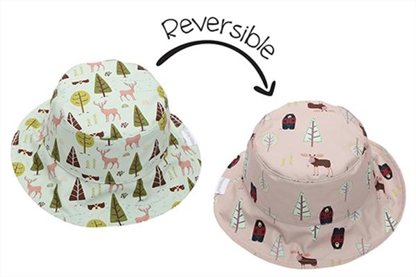 FlapJackKids Αντηλιακό Καπέλο Διπλής Όψης UPF 50+ Moose/Cottage