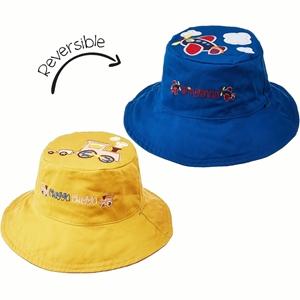 FlapJackKids Αντηλιακό Καπέλο Διπλής Όψης UPF 50+ Αεροπλανάκι/Τρένο