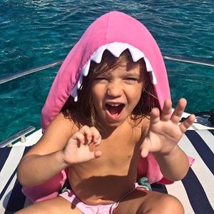Little Champions Πόντσο / Πετσέτα Microfiber, Pink Shark
