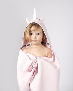 Little Champions Πόντσο / Πετσέτα Microfiber, Pink Unicorn