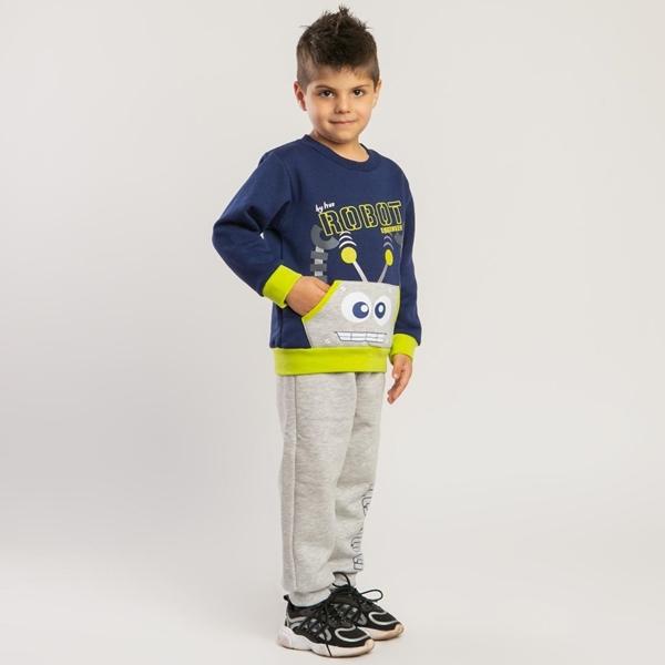 TRAX Παιδικό Σετ Φόρμας Αγόρι Robot, Μπλέ