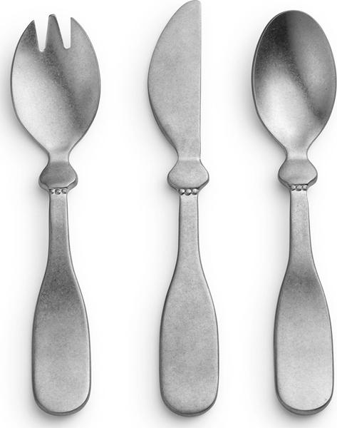 Elodie Details Σετ 3τμχ Πιρούνι - Μαχαίρι - Κουτάλι, Antique Silver