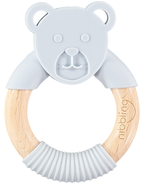 Picture of Nibbling Μασητικό Κρίκος Ted Bear Grey