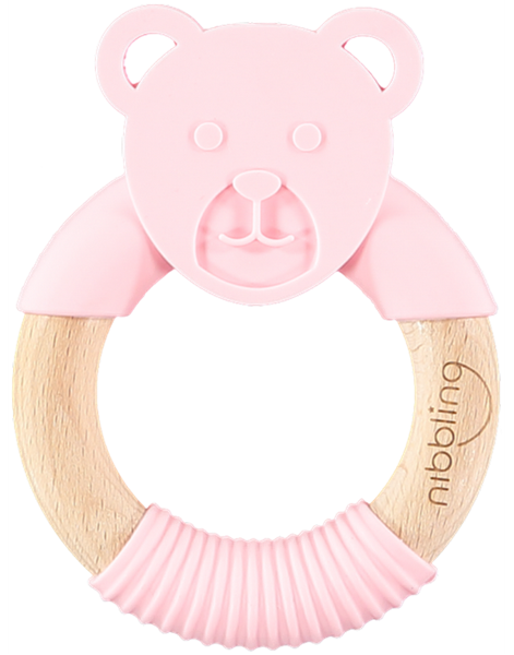 Nibbling Μασητικό Κρίκος Ted Bear Pink