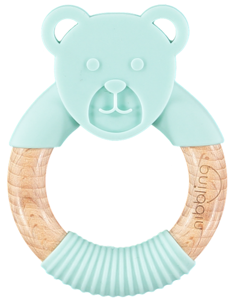 Nibbling Μασητικό Κρίκος Ted Bear Mint