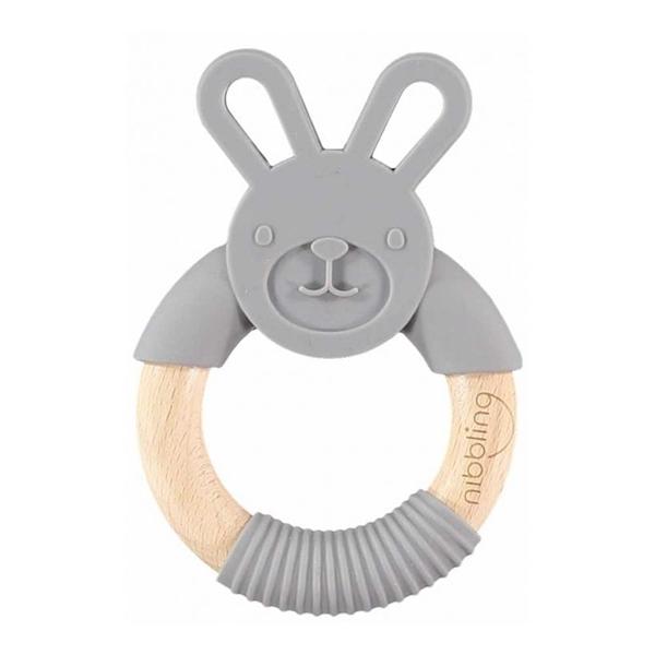 Nibbling Μασητικό Κρίκος Bo Bunny Dark Grey