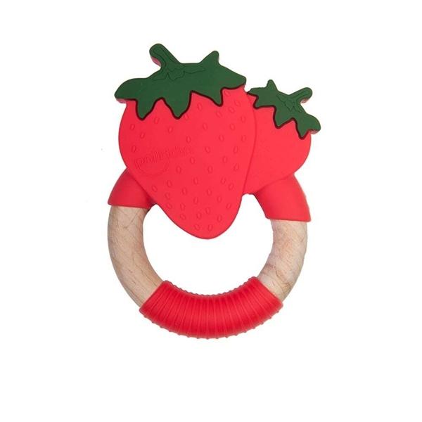 Nibbling Μασητικό Κρίκος Οδοντοφυίας Strawberry