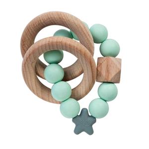 Nibbling Μασητικό Κρίκος Οδοντοφυίας Stellar Nat. Wood Mint