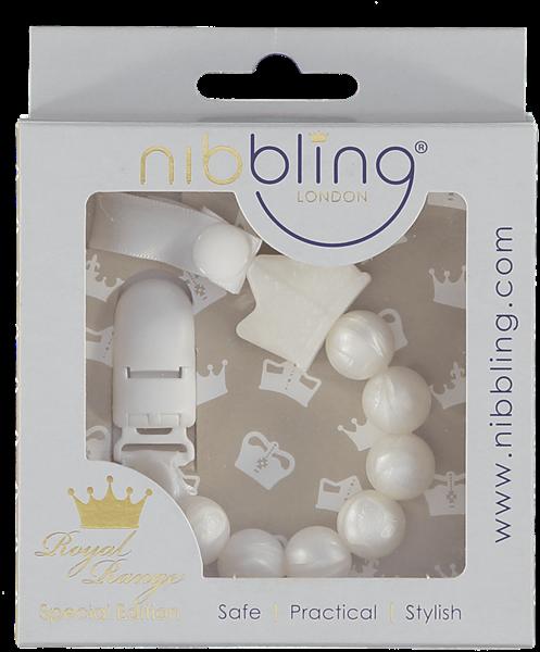 Nibbling Αλυσιδα Στήριξης Πιπίλας Royal Tiara Pearl