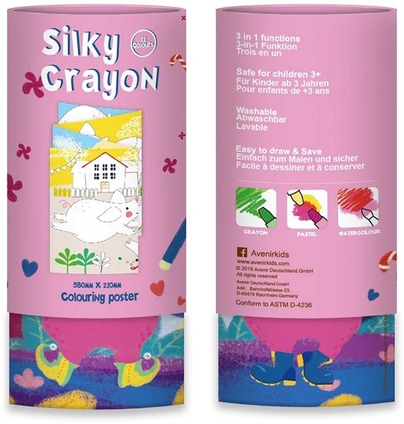 Avenir - Κουτί με 12 Μεταξένια Κραγιόν Silky Crayons, Bunny