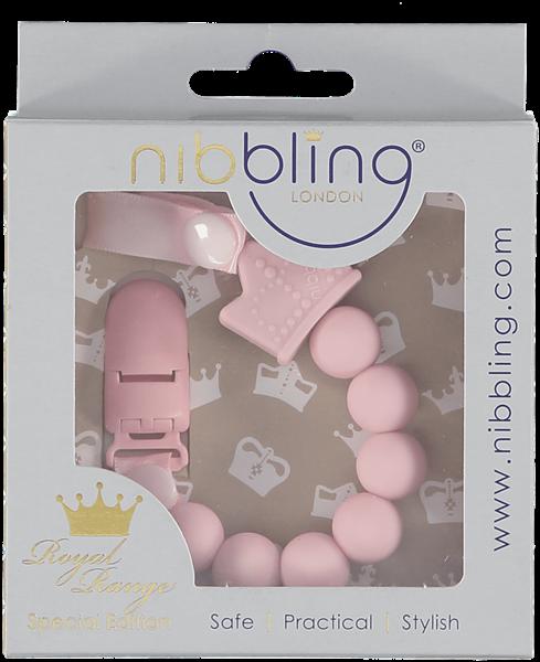 Nibbling Αλυσιδα Στήριξης Πιπίλας Royal Tiara Pink