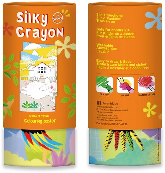 Avenir - Κουτί με 12 Μεταξένια Κραγιόν Silky Crayons, Toucan