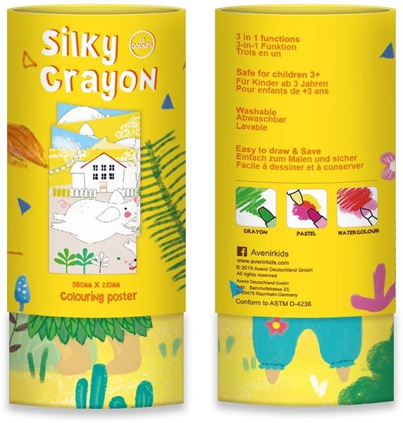 Avenir - Κουτί με 12 Μεταξένια Κραγιόν Silky Crayons, Lion