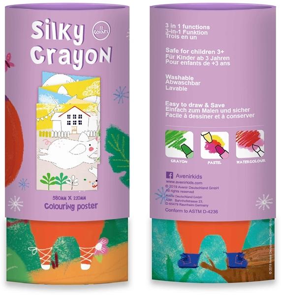 Avenir - Κουτί με 12 Μεταξένια Κραγιόν Silky Crayons, Fox