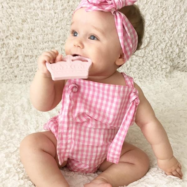 Nibbling Μασητικό Οδοντοφυίας Crown Pink