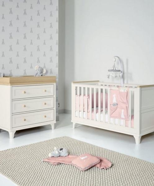 Mamas & Papas Βρεφικό Δωμάτιο Lucca Ivory/ Oak