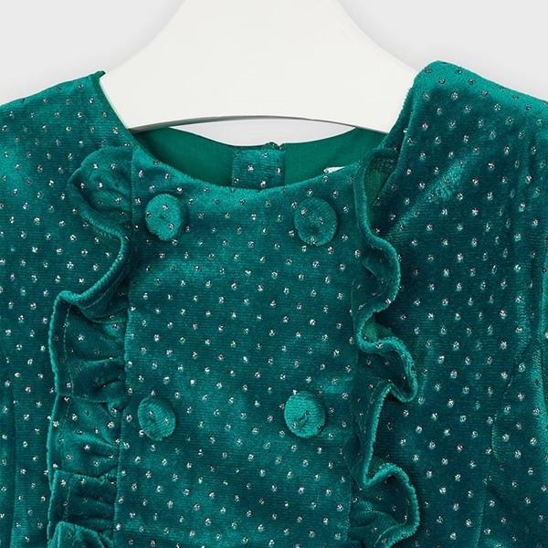 Mayoral Φόρεμα Πουά Γκλίτερ Κορίτσι, Πράσινη Πάπια