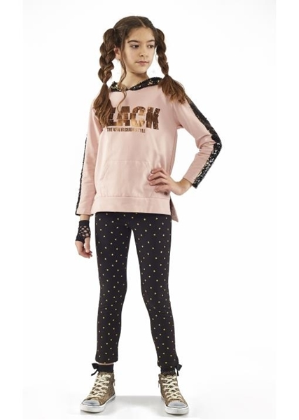 Εβίτα Fashion Σετ Φόρμας Κορίτσι Με Κολάν Black The New Fashion Style