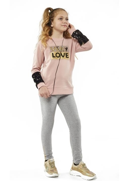 Εβίτα Fashion Σετ Φόρμας Κορίτσι Με Κολάν Very Love Ροζ