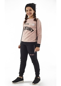 Εβίτα Fashion Σετ Φόρμας Κορίτσι Luxury Ροζ