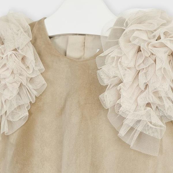 Mayoral Φόρεμα Βελούδο Κορίτσι, Μπέζ