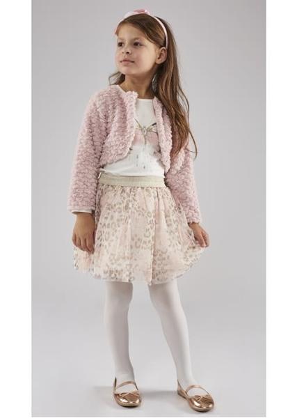 Εβίτα Fashion Σετ 3τμχ Μπολερό Φούστα Μπλούζα Ρόζ