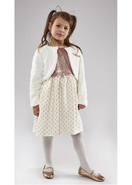 Εβίτα Fashion Σετ Φόρεμα Με Γούνινο Μπολερό