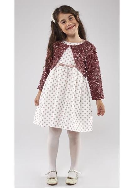 Εβίτα Fashion Σετ Φόρεμα Με Μπολερό Παγιέτες Ρόζ