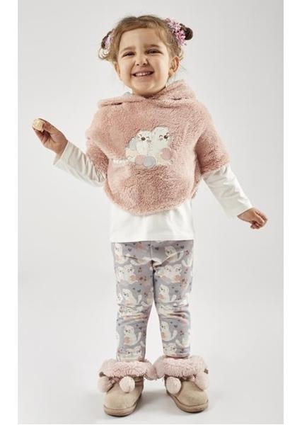 Εβίτα Fashion Σετ Κολάν Με Κάπα Baby 3τμχ Ρόζ