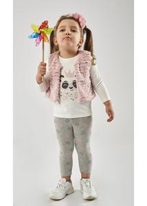 Εβίτα Fashion Σετ Κολάν Με Γιλέκο Baby 3τμχ Panda