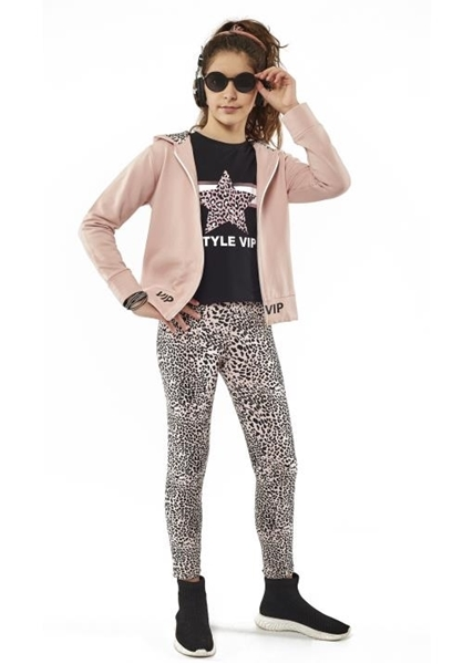 Εβίτα Fashion Σετ Φόρμας 3τμχ Κορίτσι Με Κολάν Animal Ρόζ