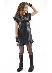 Εβίτα Fashion Φόρεμα Δερματίνη