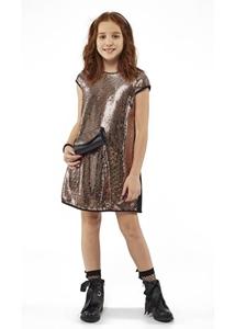 Εβίτα Fashion Φόρεμα Δερματίνη Και Τσαντάκι