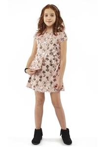 Εβίτα Fashion Φόρεμα Και Τσαντάκι Με Κρόσια Ροζ