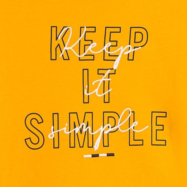 Mayoral Μπλούζα Αγόρι Keep It Simple, Κίτρινο