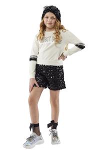 Εβίτα Fashion Σετ Σορτς Παγιέτες και Μπλούζα