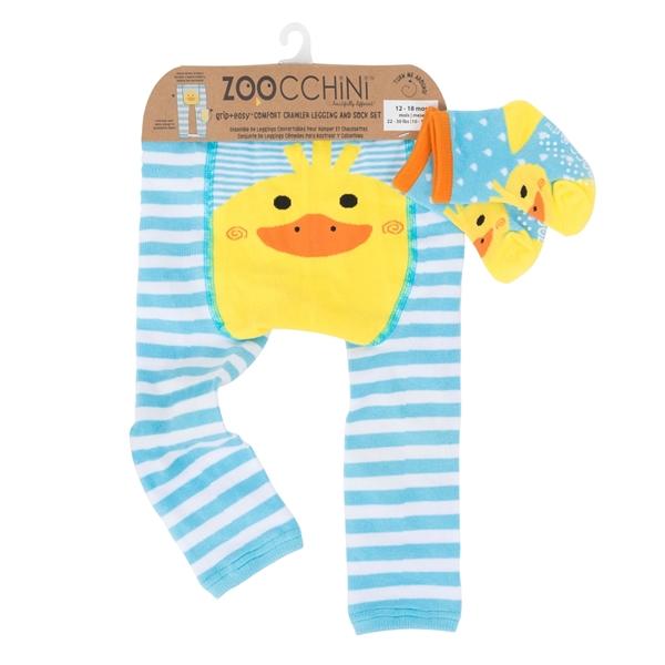 Zoocchini - Grip+Easy Παντελόνι για Μπουσούλιμα & Κάλτσες – Puddles the Duck