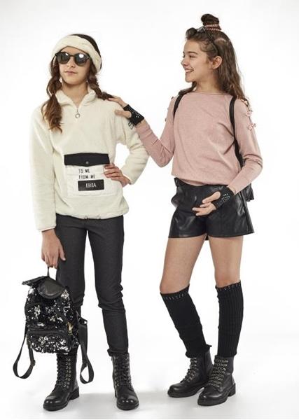 Εβίτα Fashion Δερματίνη Σορτς Με Ζώνη Μαύρο