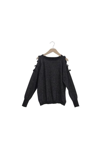 Εβίτα Fashion Μπλούζα Με Γκλίτερ, Ασημί