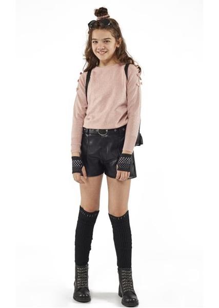 Εβίτα Fashion Μπλούζα Με Γκλίτερ, Ροζ