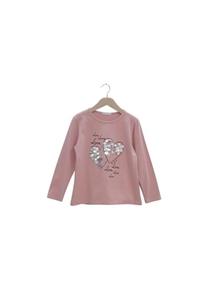 Εβίτα Fashion Μπλούζα Πούλια Καρδιές, Ροζ