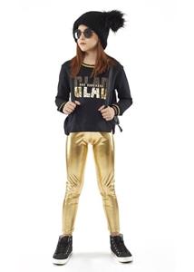 Εβίτα Fashion Σετ Κολάν Και Μπλούζα , Χρυσό