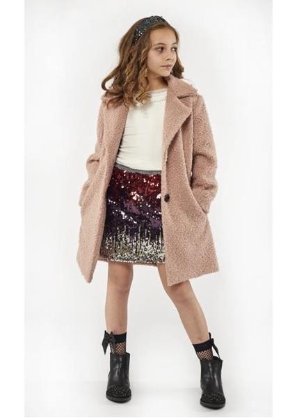 Εβίτα Fashion Παλτό Ροζ