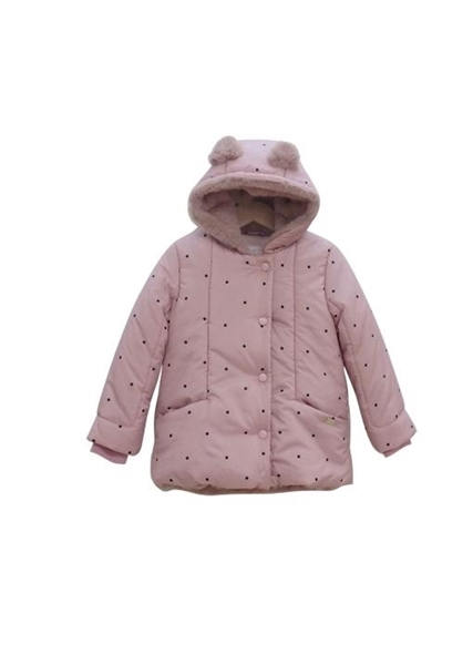Εβίτα Fashion Μπουφάν Με Αυτάκια, Ροζ