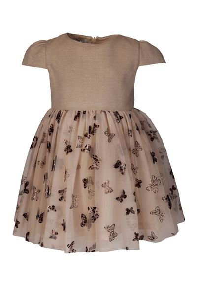 M&B Fashion Φόρεμα Πεταλούδες Παιδικό, Χρυσό