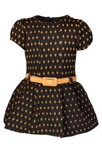 M&B Fashion Φόρεμα Με Ζώνη Παιδικό, Ωχρα