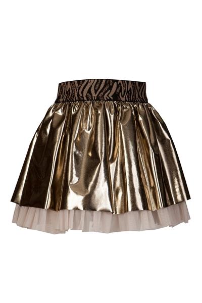 M&B Fashion Φούστα Παιδική, Χρυσή