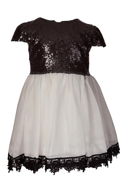 M&B Fashion Φόρεμα Με Παγιέτες Παιδικό, Λευκό